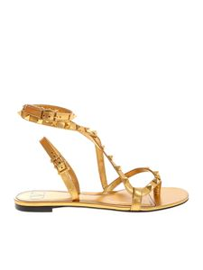 Valentino - Rockstud Flair sandals in gold color