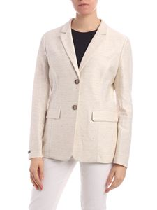 Peserico - Single-breasted Jacket in beige melange