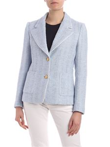 Ballantyne - Lamé inserts two-button jacket in light blue