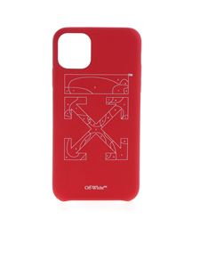 Off-White - Cover Puzzle rossa per Iphone 11 Pro Max