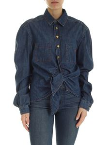 Philosophy di Lorenzo Serafini - Shirt in blue with red stitching