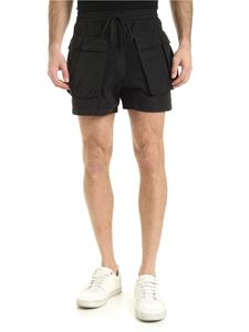 Off-White - Shorts neri con coulisse