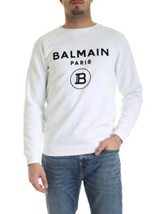 Balmain - Black logo sweatshirt in white