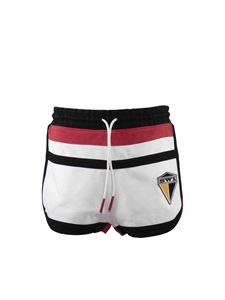 Burberry - Logo insert shorts in white