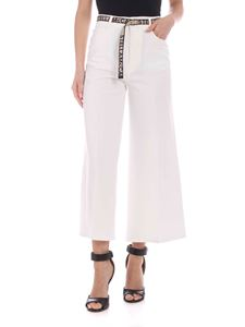 Stella McCartney - Cropped pants with branded belt in white