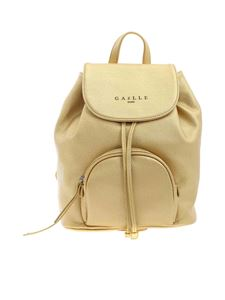 Gaelle Paris - Faux leather backpack in gold color