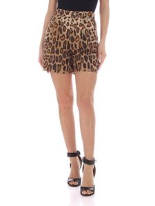 Etro - Animal print shorts in black and brown