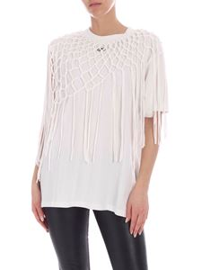 Off-White - T-shirt Asymmetrical Fishnet bianca
