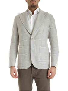 L.B.M. 1911 - Check pattern jacket in white and beige