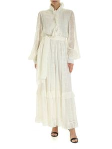 Etro - Long ruffled dress in ivory color