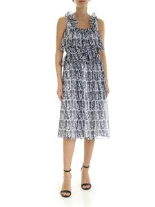 Kenzo - Mermaids sleeveless dress in blue and white