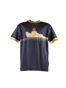 Dolce & Gabbana Jr - Dark blue T-shirt with contrasting edges