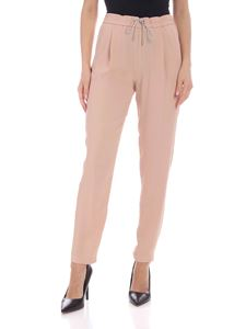 Fabiana Filippi - Contrasting micro-beads pants in nude color