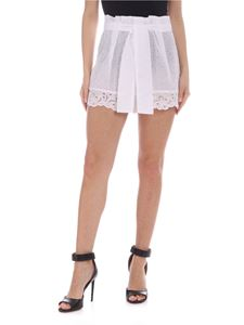 Ermanno Scervino - Sangallo shorts with bow in white