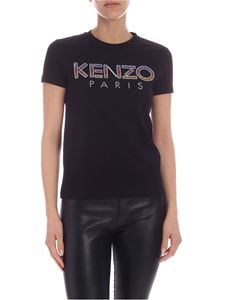 Kenzo - Sequins Kenzo Paris logo T-shirt in black