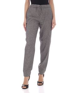 Fabiana Filippi - Linen and cotton pants in melange grey