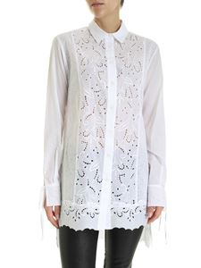 Ermanno Scervino - Sangallo long fit shirt in white