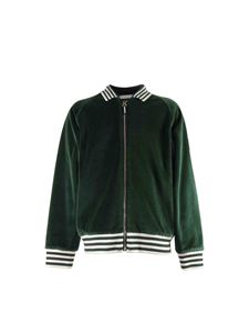 Burberry - Bomber in velour verde
