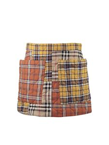 Burberry - Logan yellow and orange patchwork skirt