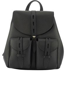Furla - Net grainy leather small backpack