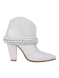 Golden Goose - Michelle leather ankle boots in white