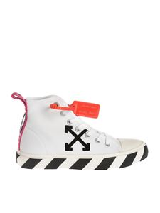 Off-White - Patch Arrow hi-top sneakers in white