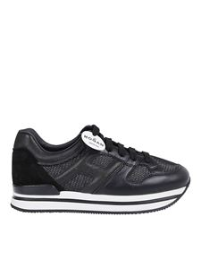 Hogan - H222 leather and high tech fabric sneakers
