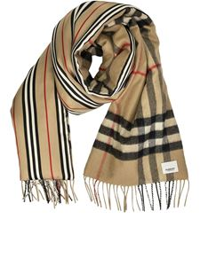 Burberry - Tartan and icon stripe scarf