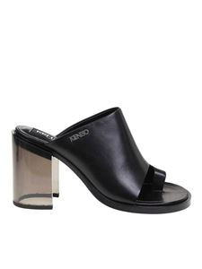 Kenzo - K-Round black leather mules