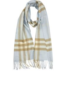 Burberry - Check patterned cashmere scarf