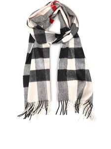 Burberry - Vintage Check patterned cashmere scarf