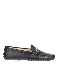 Tod's - Mocassini neri in pelle Gommino Double T