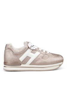 Hogan - Sneakers H222 in pelle craquelé metallizzata