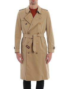 Burberry - Trench The Kensington-Long in gabardine beige