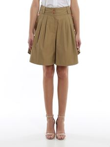 See by Chloé - Khaki cotton drill shorts