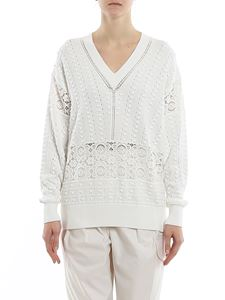 See by Chloé - Macramé detailed cotton sweater