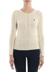 POLO Ralph Lauren - Logo embroidery cable-knit sweater