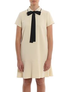 Red Valentino - Contrasting piping stretch cady dress