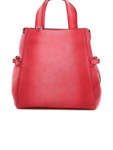 Orciani - Fan pebbled leather medium bag