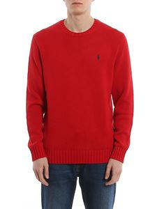 POLO Ralph Lauren - Cable knit red cotton crew neck