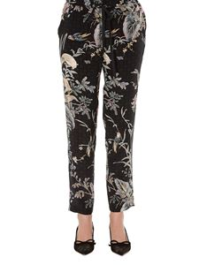 Red Valentino - Floral printed silk pants