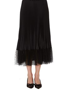 Red Valentino - Flounced tulle pleated skirt