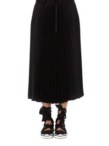 Red Valentino - Envers satin pleated skirt