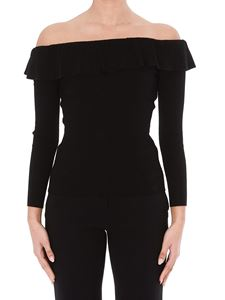Red Valentino - Off-the-shoulder ribbed sweater
