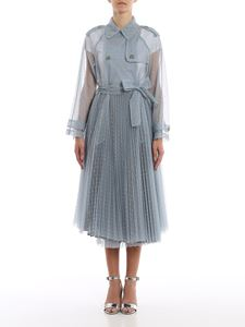 Red Valentino - Trench in tulle point d'esprit
