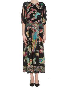 Red Valentino - Floral printed silk dress