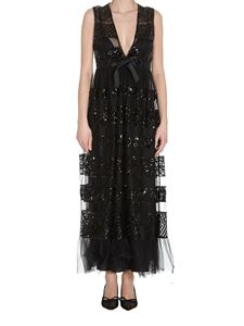 Red Valentino - Embellished tulle dress