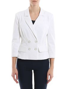 Elisabetta Franchi - Crop double-breasted fitted blazer