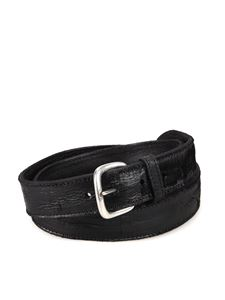 Orciani - Cut textured leather belt