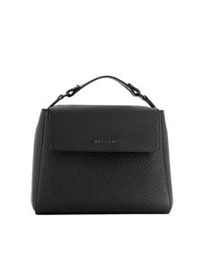 Orciani - Sveva black pebbled leather small bag